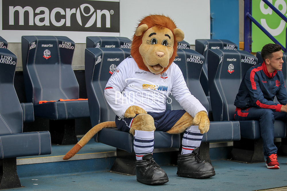 Bolton mascot on the team bench before the Pre-Season Friendly match between Bolton Wanderers and Preston North End at the Macron Stadium, Bolton, England on 30 July 2016. Photo by Mark P Doherty.