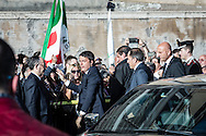 Emiliano Albensi<br /> 29/10/2016 Roma (Italia)<br /> Manifestazione PD Basta un S&igrave;<br /> Nella foto: il presidente del Consiglio, Matteo Renzi, arriva a piazza del Popolo per la manifestazione &quot;Basta un s&igrave;&quot; <br /> <br /> Emiliano Albensi<br /> 29/10/2016 Rome (Italy)<br /> Democratic Party demonstration in support of the Constitutional Reform referendum<br /> In the picture: the Italian PM, Matteo Renzi, arrives at People's Square for the demonstration &quot;Basta un s&igrave;&quot; (Just a Yes)