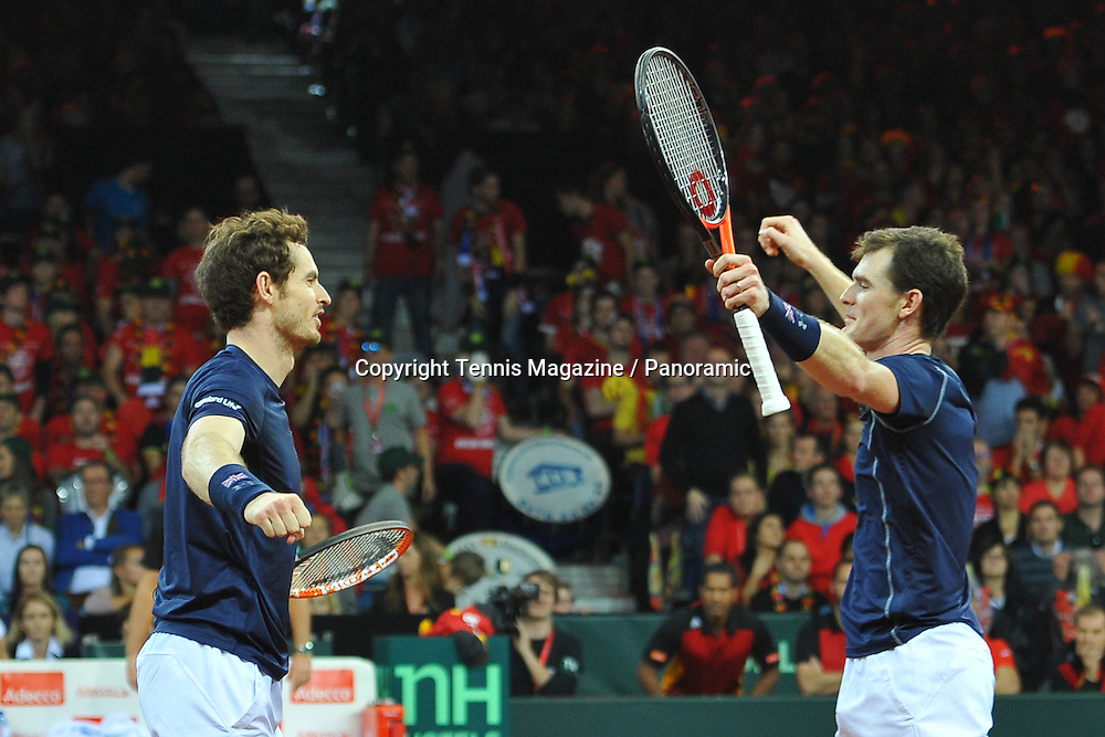double, Andy and Jamie Murray (GB) def Steve Darcis and David Goffin (Bel)