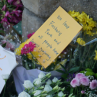 Floral tributes to Finsbury Park attack scene in London, UK