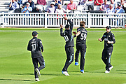 Tom Curran (Surrey) celebrates his early wicket during the Royal London 1 Day Cup match between Surrey County Cricket Club and Kent County Cricket Club at the Kia Oval, Kennington, United Kingdom on 12 May 2017. Photo by Jon Bromley.