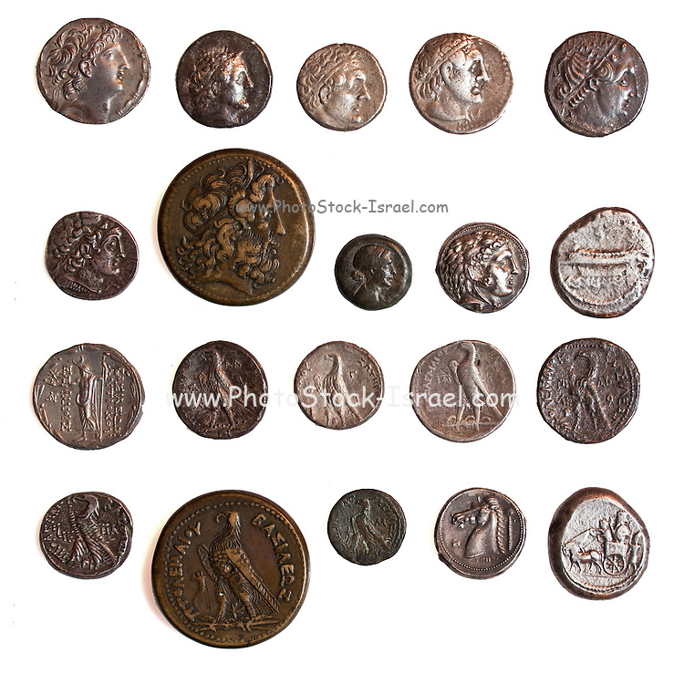 Ancient Greek Silver coins from 1st and 2nd century BCE
