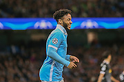 Manchester City midfielder Raheem Sterling  during the Champions League match between Manchester City and Borussia Monchengladbach at the Etihad Stadium, Manchester, England on 8 December 2015. Photo by Simon Davies.