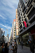 Photo shows the Matsuzakaya department store in the Ginza district of Tokyo, Japan on Tuesday 16 Nov. 2010..Photographer: Robert Gilhooly
