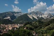 Panorama of Carrara with the quarries