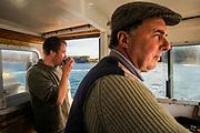 Fishermen boat between Iona and Staffa.