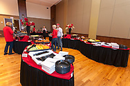 Bagder fans check out their food options at the Badger Bash Homecoming celebration at Union South in 2014.