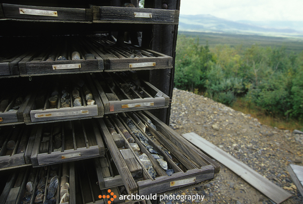 Mining core samples, Yukon