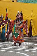 Mongolia. Ulaanbaatar. Tsam dance . budhist ceremony in Dashi choiling monastery. traditional masks  Ulanbaatar -    /  danse Tsam. ceremonie boudhiste. au monastere Dashi choiling , masque de danse traditionnel  oulan Bator - Mongolie  /  L0009335