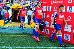 Cape Town 180217-Stomers players take the field when playing their opening game of the Rugby Super 15 at Newlands.Photograph:Phando Jikelo/African News Agency/ANA