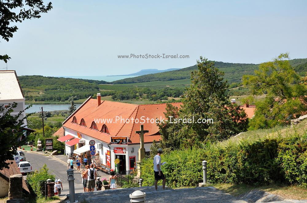 Eastern Europe, Hungary, Tihany, Lake Balaton in the background