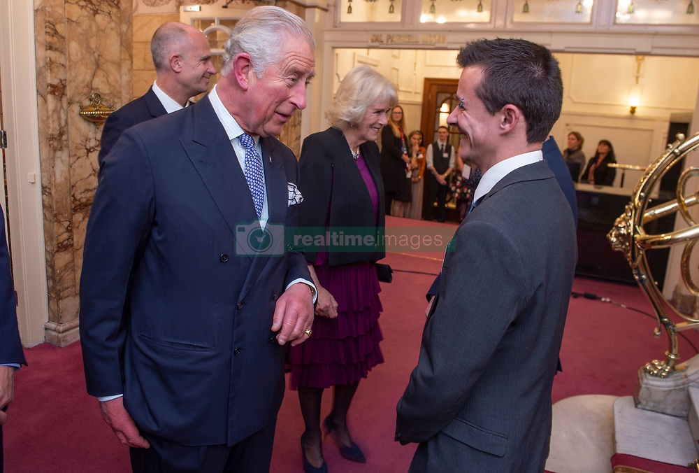 Embargoed to 0001 Tuesday November 13 The Prince of Wales meeting young Princes's Trust beneficiaries after the We Are Most Amused and Amazed performance at the London Palladium.
