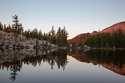 """Five Lakes 3"" - Early morning photograph of one of the Five Lakes in the Tahoe area."