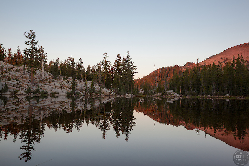 """""""Five Lakes 3"""" - Early morning photograph of one of the Five Lakes in the Tahoe area."""