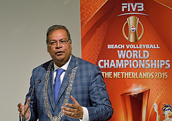 30-03-2015 NED: FIVB Drawing WCH Beach Volleyball, The Hague<br /> The Drawing of Lots for the FIVB Beach Volleyball World Championships The Netherlands 2015 will take place at the Mauritshuis art museum / Wethouder Rabin Baldewsingh