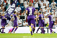 ACF Fiorentina's players celebrate goal during Santiago Bernabeu Trophy. August 23,2017. (ALTERPHOTOS/Acero)
