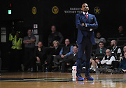 Vanderbilt Commodores head coach Jerry Stackhouse during an SEC Conference NCAA basketball game between the University of Alabama Crimson Tide and the University of Vanderbilt Commodores at Memorial Gymnasium in Nashville, TN