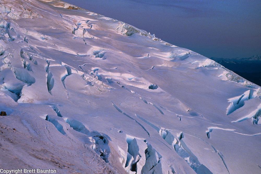 Easton Glacier; Mt. Baker; South Side; Glacier, Ice, Crevasse, Moonlight, WA