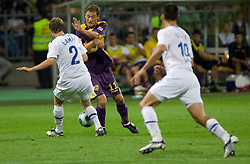 Veli Lampi vs Dragan Jelic of Maribor at Third Round of Champions League qualifications football match between NK Maribor and FC Zurich,  on August 05, 2009, in Ljudski vrt , Maribor, Slovenia. Zurich won 3:0 and qualified to next Round. (Photo by Vid Ponikvar / Sportida)