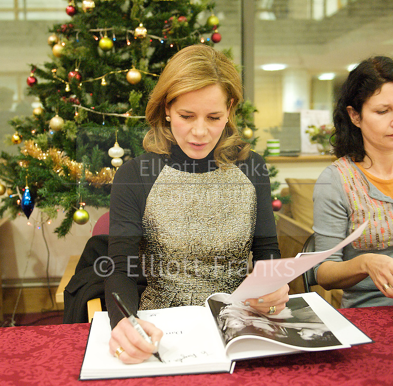 Darcy Bussell<br /> appearance and signing at The Royal Ballet School <br /> <br /> 13th December 2012 <br /> dropped into the Royal Ballet School to wish student a merry Christmas and to sign copies of her book.<br /> <br /> Darcey Bussell: A Life in Pictures <br />  <br /> accompanied by students from the Royal Ballet school <br /> Matthew Ball and Suzanne Operman <br /> <br /> Photograph by Elliott Franks