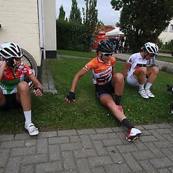 06-09-2015: Wielrennen: Ladiestour: Valkenburg<br /> VALKENBURG (NED) wielrennen<br /> De slotetappe van de Boels Ladies Tour startte traditioneel in Bunde en voerde het peloton door het Limburgse Heuvelland met finish op de top van de Cauberg. Veloci-Vervelo werkte hard in de finale voor Lisa Brennauer