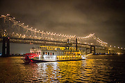 The Creole Queen riverboat heads to dock in New Orleans. 2013 ©Kathy Anderson , All Rights Reserved
