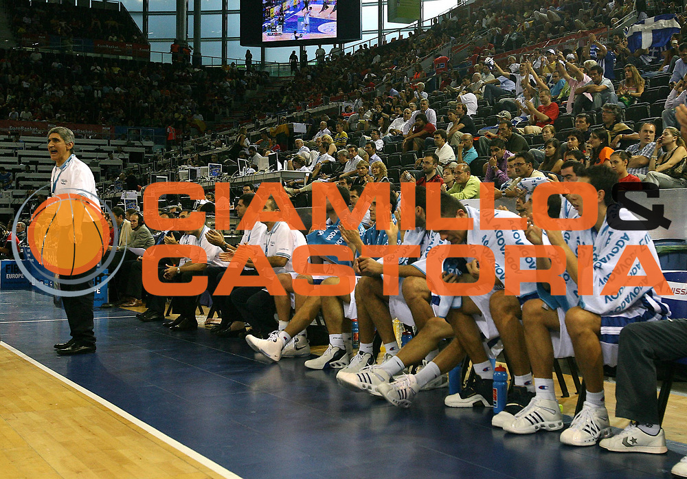 DESCRIZIONE : Madrid Spagna Spain Eurobasket Men 2007 Qualifying Round Grecia Portogallo Greece Portugal <br /> GIOCATORE : Team Grecia Team Greece <br /> SQUADRA : Grecia Greece <br /> EVENTO : Eurobasket Men 2007 Campionati Europei Uomini 2007 <br /> GARA : Grecia Portogallo Greece Portugal <br /> DATA : 11/09/2007 <br /> CATEGORIA : <br /> SPORT : Pallacanestro <br /> AUTORE : Ciamillo&amp;Castoria/A.Vlachos <br /> Galleria : Eurobasket Men 2007 <br /> Fotonotizia : Madrid Spagna Spain Eurobasket Men 2007 Qualifying Round Grecia Portogallo Greece Portugal <br /> Predefinita :