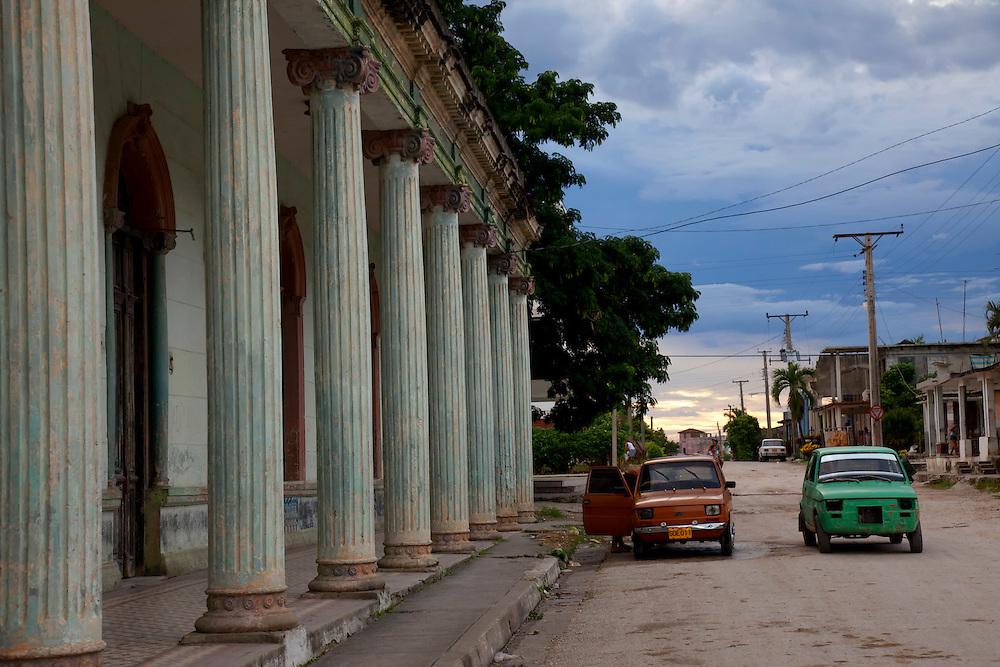 Street in Guayos, Sancti Spiritus, Cuba.