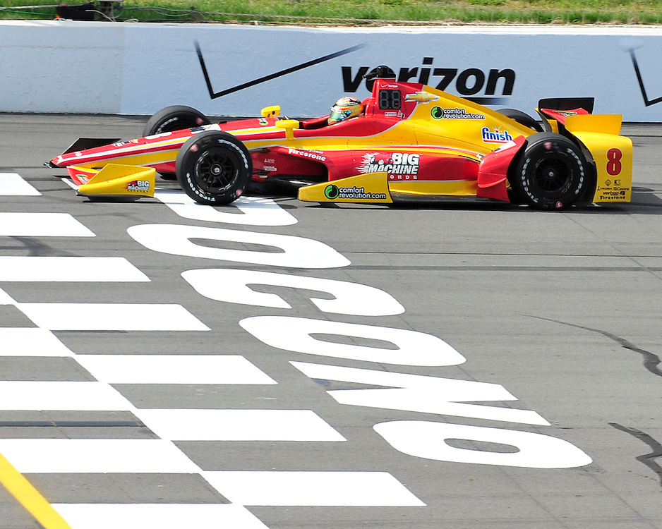Sage Karam of Nazareth prepares to competed in the ABC Supply 500 at Pocono Raceway on August 22nd, 2015, in Long Pond. IndyCar racing returns to Pennsylvania for the ABC Supply 500 at Pocono Raceway on Sunday.