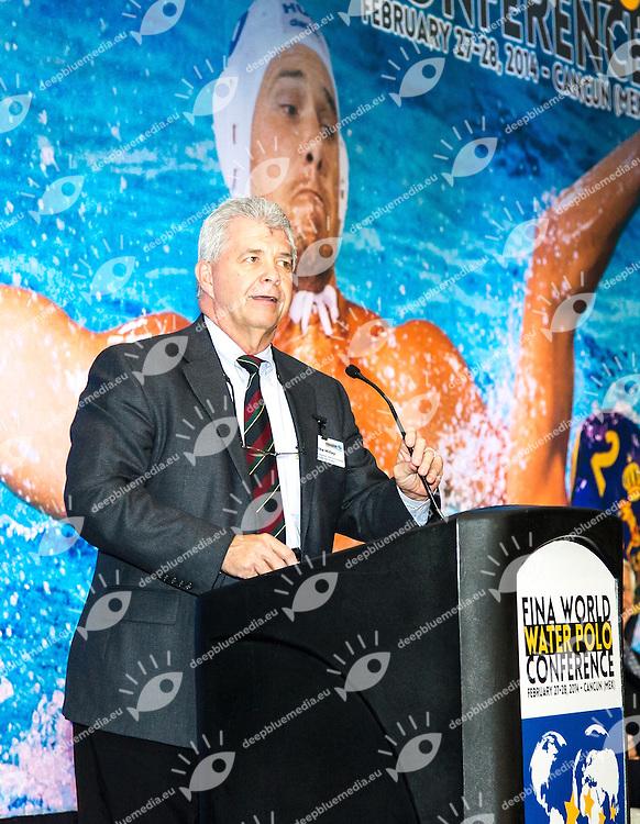 Mike Millay ESPN/Disney Director Sports Development<br /> FINA World Water Polo Conference 2014<br /> Day01 - Feb.27th<br /> Cancun (MEX) 27-28 February 2014<br /> Photo G.Scala/Deepbluemedia.eu
