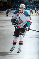 KELOWNA, CANADA - DECEMBER 27: Mitchell Wheaton #6 of the Kelowna Rockets skates during warm up against the Kamloops Blazers on December 27, 2013 at Prospera Place in Kelowna, British Columbia, Canada.   (Photo by Marissa Baecker/Shoot the Breeze)  ***  Local Caption  ***
