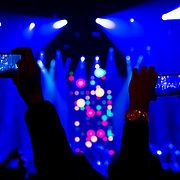 January 30, 2013 - New York, NY : Concertgoers use their cell pones to capture multimedia (photo / video) as the the band TLC takes the stage for their VH1 Super Bowl Blitz performance at the Beacon Theatre on Thursday night. CREDIT: Karsten Moran for The New York Times