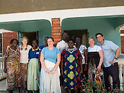 A photo of the Send a Cow, UK, team on their visit to Uganda, (left to right; Elizabeth, Lucy, Jane, Catherine, Jen, Stanslaus, Joyce, Helen, Sarah and Ben)
