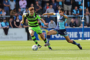 Forest Green Rovers Mark Roberts(21) runs forward during the EFL Sky Bet League 2 match between Wycombe Wanderers and Forest Green Rovers at Adams Park, High Wycombe, England on 2 September 2017. Photo by Shane Healey.