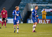 Gillingham forward Luke Norris celebrates his goal to make it 1-1 during the Sky Bet League 1 match between Gillingham and Peterborough United at the MEMS Priestfield Stadium, Gillingham, England on 23 January 2016. Photo by David Charbit.