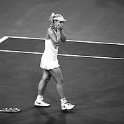 Sabine Lisicki defeats Flavia Pennetta in a quarterfinal match of the 2015 BNP Paribas Open in Indian Wells, California on Thursday, March 19, 2015.<br /> (Photo by Billie Weiss/BNP Paribas Open)