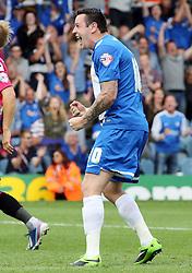 Peterborough United's Lee Tomlin celebrates scoring  - Photo mandatory by-line: Joe Dent/JMP - Tel: Mobile: 07966 386802 17/08/2013 - SPORT - FOOTBALL - London Road Stadium - Peterborough -  Peterborough United V Oldham Athletic - Sky Bet League One