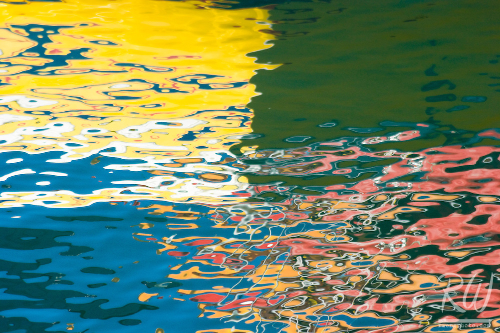 Abstract Color Water Reflections, Morro Bay, California