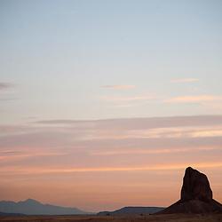 White Rock at sunset.