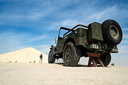 World's largest motorised truck (Willy jeep) Emirates National Auto Museum outside Abu Dhabi in United Arab Emirates