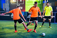 """Real Madrid players Lucas Vazquez and Nacho Fernandez during the presentation of the new pack of Adidas football shoes """"Speed of Light"""" in Madrid. September 16, 2016. (ALTERPHOTOS/Borja B.Hojas)"""