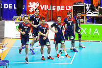 EQUIPE DE LYON - 14.03.2015 - Lyon / Paris - 24e journee Ligue A<br /> Photo : Jean Paul Thomas / Icon Sport