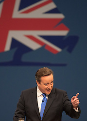 David Cameron Keynote Speech. <br /> Prime Minister David Cameron during his keynote speech to the Conservative Party Conference, Manchester, United Kingdom. Wednesday, 2nd October 2013. Picture by i-Images