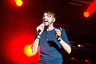 Christophe Willem during the Ronquieres Festival in Belgium. A music festival in the inclined plane Ronquieres, emblematic place of Belgium. Sould-out festival with more than 32,000 festival goers for this fourth edition