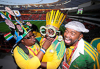 Fussball   International    Freundschaftsspiel   Deutschland - Suedafrika      05.09.09 Fans der Bafana aus Suedafrika vor dem Spiel in der BayArena in Leverkusen.