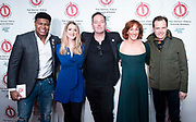 The 2019 Critics' Circle Theatre Awards at The Prince of Wales Theatre, London, Great Britain <br /> 11th February 2020 <br /> <br /> <br /> The Peter Hepple Award for Best Musical – 'Come From Away', Phoenix<br /> <br /> L to r; <br /> Tarinn Callender <br /> Alice Fearn<br /> James Doherty <br /> Kate Graham<br /> Alasdair Harvey<br /> <br />  <br /> Photograph by Elliott Franks