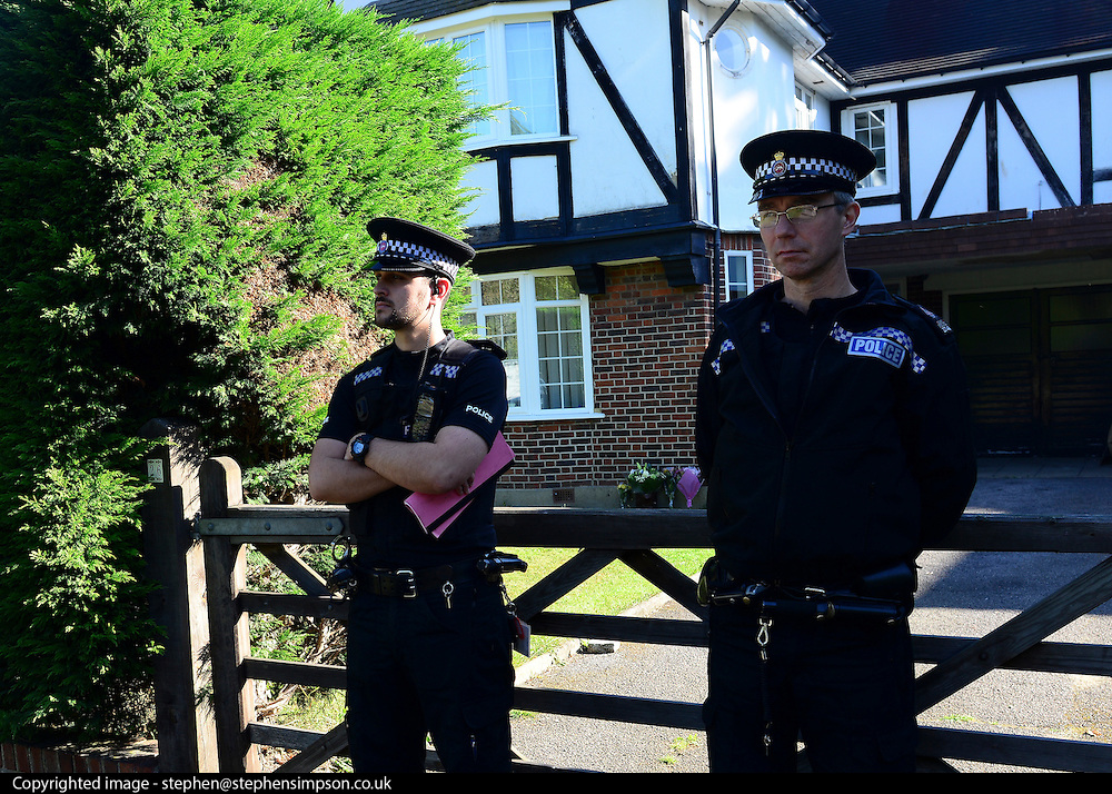 © Licensed to London News Pictures. 07/09/2012. Claygate, UK The family home of Saad al-Hilli in Claygate, near Esher. Three members ofof the family have been shot dead in the French Alps. Photo credit : Stephen Simpson/LNP