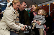 Jane Torvill, Matthew Vaughan, Darcy Bussell and Phoebe, Launch of the Somerset House Christmas Ice Rink. 26 November 2003.  © Copyright Photograph by Dafydd Jones 66 Stockwell Park Rd. London SW9 0DA Tel 020 7733 0108 www.dafjones.com