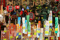 Mar 6, 2006; Tokyo, JPN; Asakusa.Colorful souvenirs and their price tags are on display at a shop along Nakamise-dori as you approach the Senso-ji Buddhist temple...Photo credit: Darrell Miho