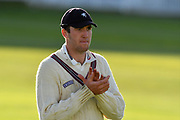 Craig Overton of Somerset during the Specsavers County Champ Div 1 match between Somerset County Cricket Club and Lancashire County Cricket Club at the Cooper Associates County Ground, Taunton, United Kingdom on 14 September 2017. Photo by Graham Hunt.